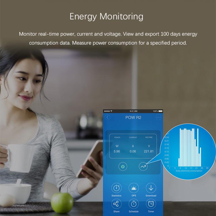 Sonoff Pow R2 - monitorizare consum instant