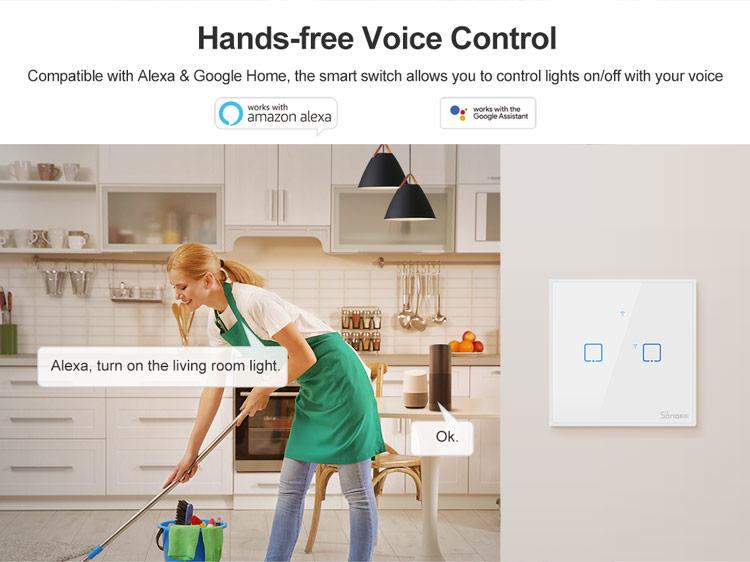 Control vocal prin alexa sau google home